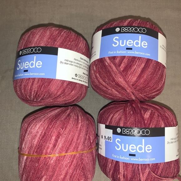 Berroco suede yarn Maroon color